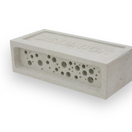 White concrete bee brick by Green&Blue